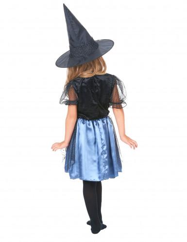Travestimento nero da strega con ragno per bambina-2