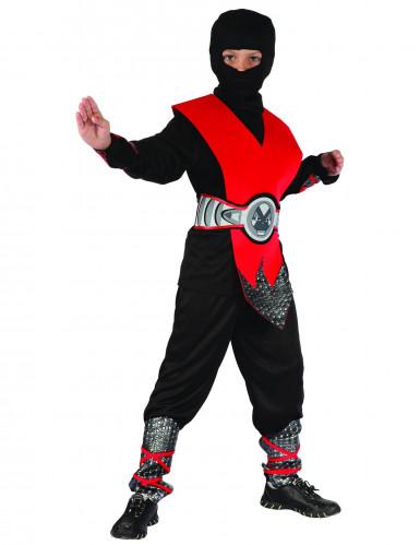 Costume rosso da ninja per ragazzo