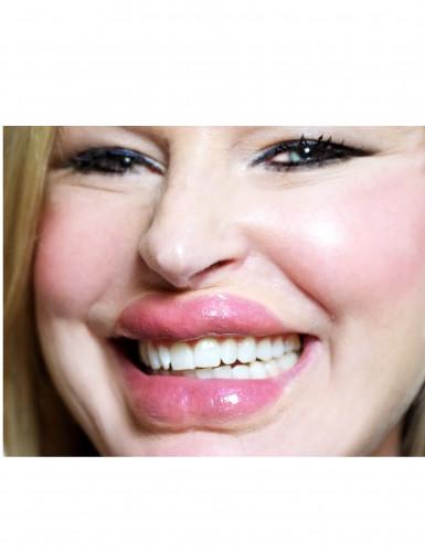 Labbra grandi e carnose trasferibili con acqua
