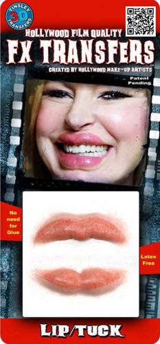 Labbra grandi e carnose trasferibili con acqua-1