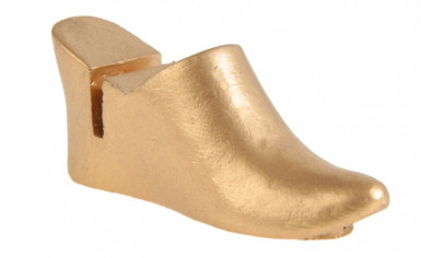 2 segnaposti pantofole orientali da sposa colore oro