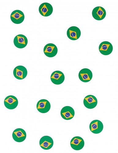 Coriandoli da tavola con bandiera del Brasile-1
