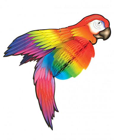 Decorazione di carta a forma di pappagallo colorato