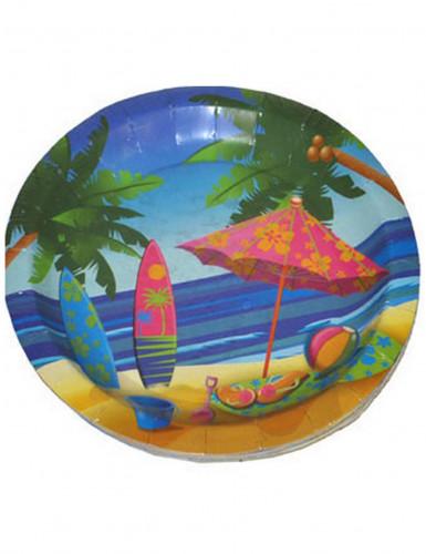 Confezione 8 piatti Hawaii