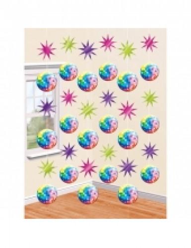 6 decorazioni da appendere sfera Disco