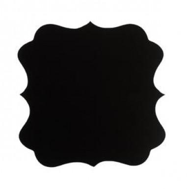 6 etichette adesive nere effetto ardesia