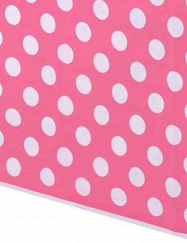 Tovaglia rosa a pois bianchi-1