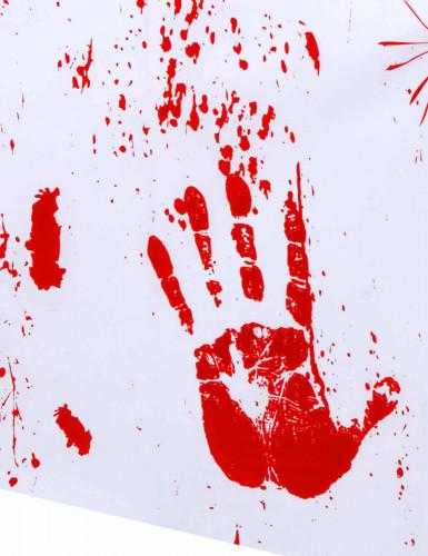 Tovaglia con mani insanguinate per Halloween-1