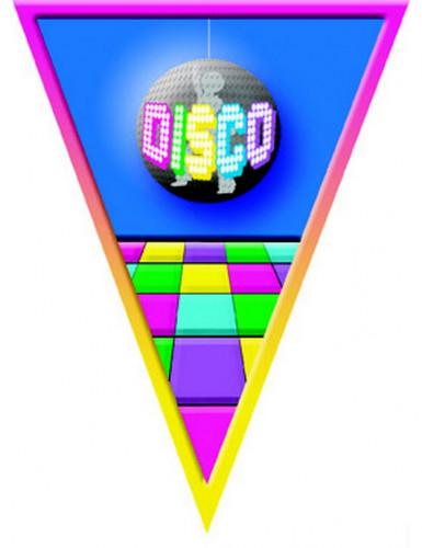 Ghirlanda con bandierine disco