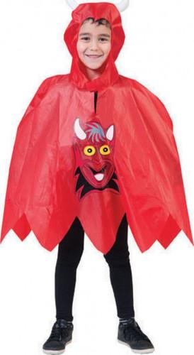 Poncho per travestimento da diavolo per bambini