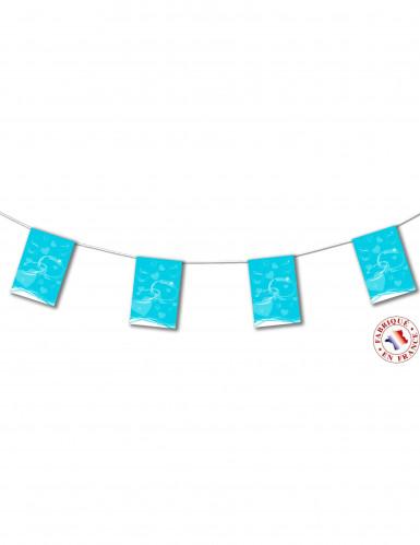 Festone di carta turchese a bandiere per matrimonio di 4 m
