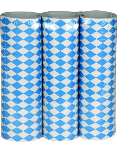 Serpentine a scacchi bianchi e blu per festa della birra