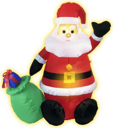 Babbo Natale gonfiabile con sacco