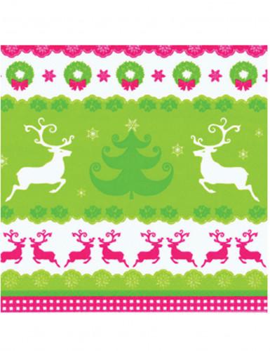 20 Tovaglioli renne e albero di Natale