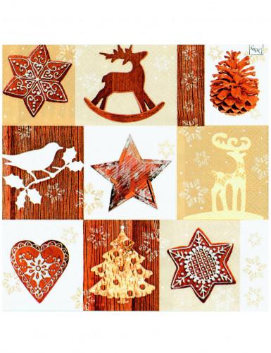 Confezione da tovaglioli di carta Natale in montagna