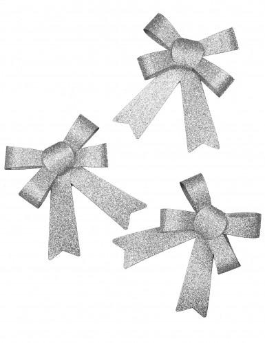 Fiocchetti con paillettes argentate per le feste