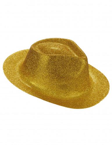 Cappello con brillantini dorati adulto