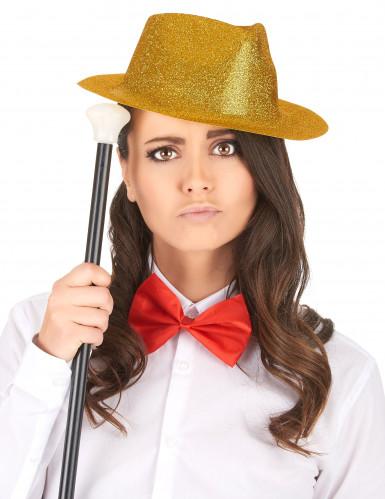 Cappello con brillantini dorati adulto-1