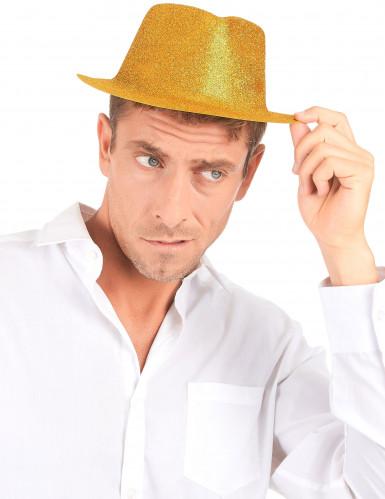 Cappello con brillantini dorati adulto-2