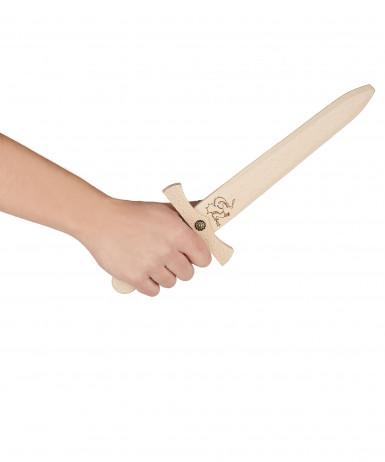 Pugnale in legno da 35 cm con fodero-1