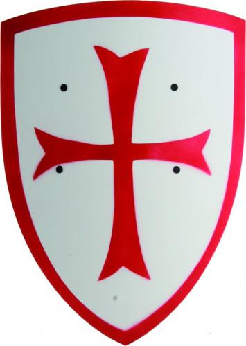 Scudo bianco con una croce rossa per bimbo