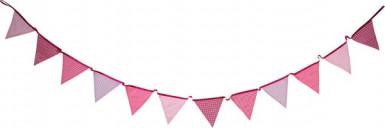 Ghirlanda bandierine rosa Pink Party-1