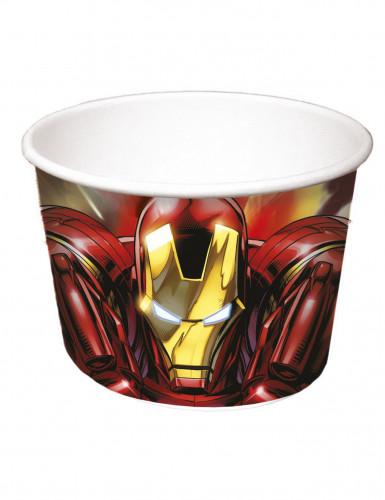 8 coppette di cartone Iron Man Avengers