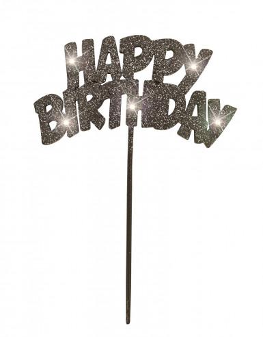 Decorazione nera luminosa per torta di compleanno
