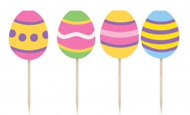 8 Stecchini da 9,5 cm Uova di Pasqua