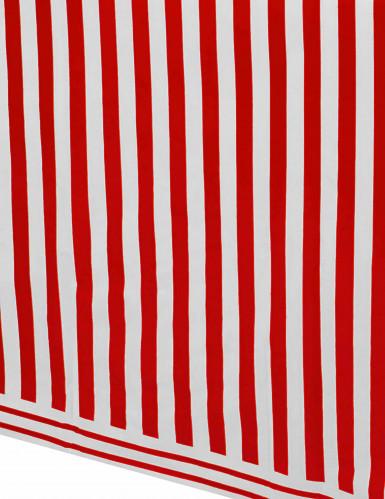 Tovaglia in plastica a righe rossa e bianca 137x274 cm-1