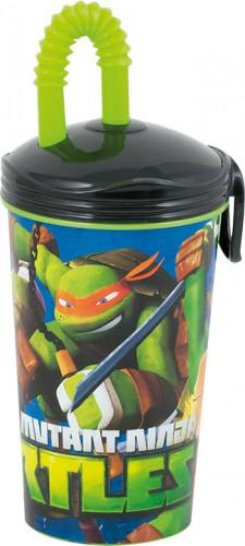 Bicchiere con cannuccia di Tartarughe Ninja™
