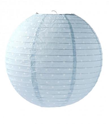 Lanterna giapponese azzurra a pois 35 cm