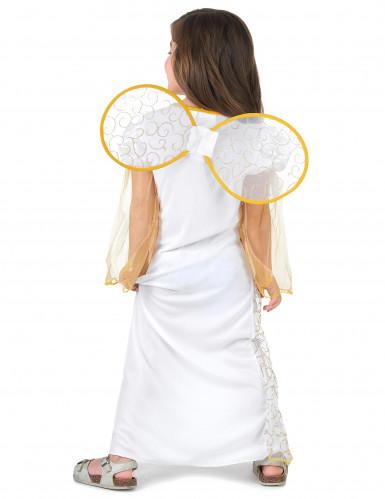 Costume angelo bianco e dorato per bambina-2