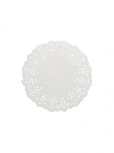 10 Centrini di carta effetto pizzo colore bianco