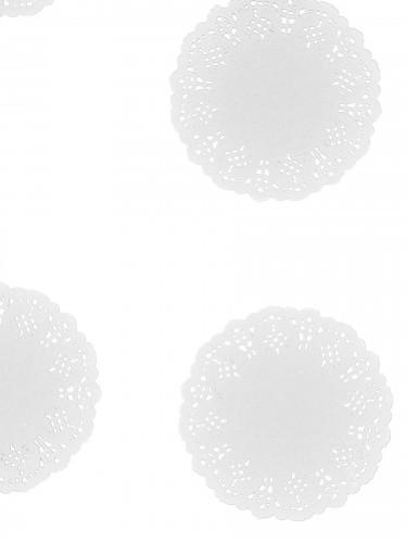 10 Centrini di carta effetto pizzo colore bianco-1