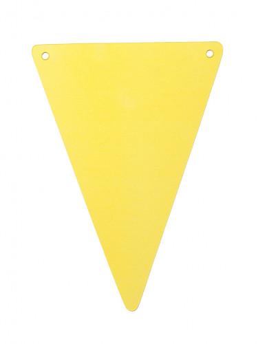 5 gagliardetti di cartone fai da te in giallo
