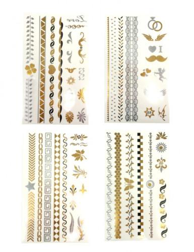 Tatuaggi Argento e Oro temporanei
