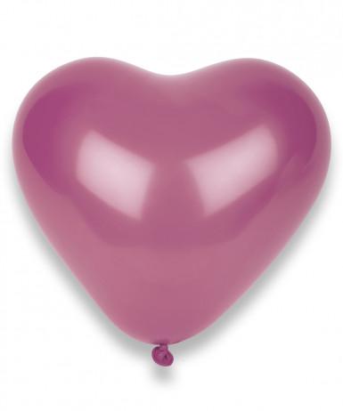 100 palloncini fucsia a forma di cuore
