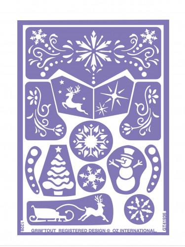 Stencil riutilizzabile per trucco Regno delle nevi Grim Tout