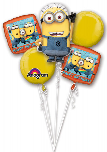 Set di 5 palloncini in alluminio Minions™