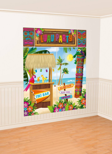 Poster con sfondo hawaiano