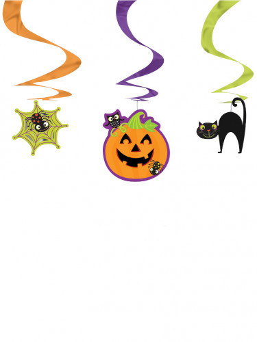 3 Decorazioni a spirale da soffitto in tema Halloween