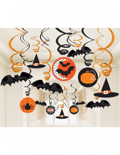 Confezione 30 decorazioni appese Halloween