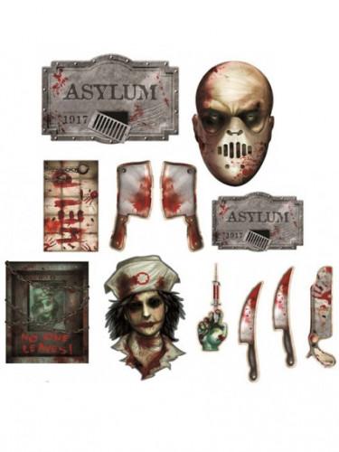 12 Decorazioni di Halloween Manicomio degli orrori