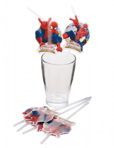 6 cannucce supereroe Spiderman™-1