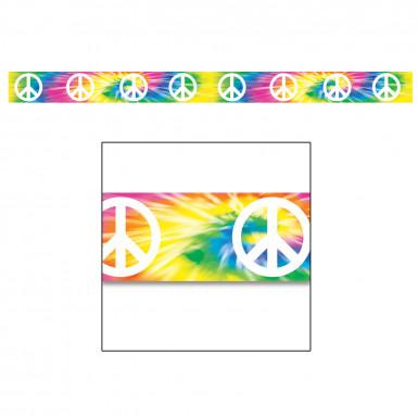 Ghirlanda multicolore in plastica con il simbolo della pace