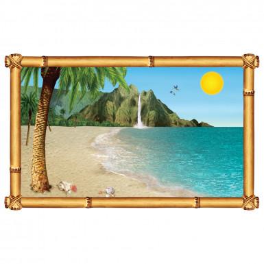 Decorazione murale Spiaggia Tropicale