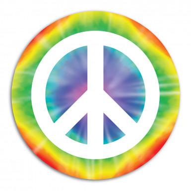 Decorazione a tema pace in cartone da 34,5 cm di diametro