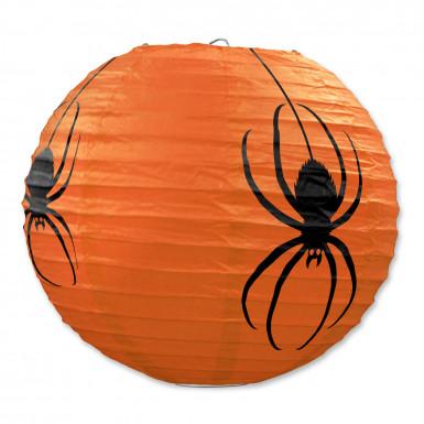 Tre Lanterne zucca con ragni di carta