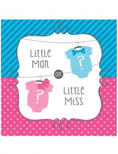 16 tovagliolini di carta bambino o bambina 33 cm